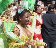 karnevalcopenhagen deltagare Fotografering för Bildbyråer