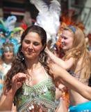 karnevalcopenhagen deltagare Royaltyfri Fotografi
