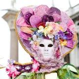 karnevaldräkt venice Royaltyfri Foto