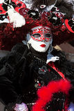 karnevaldräkt venice Arkivfoton