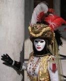 karnevaldräkttorero venice Arkivbilder
