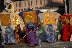 karnevalet 2010 maskerar zodiac Arkivbilder