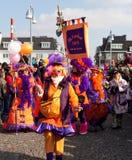 karnevalet 2011 maastricht ståtar Arkivbild