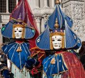 karnevalet 2011 maskerar venice Royaltyfria Bilder