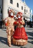 karnevalet 2011 maskerar venice arkivfoton