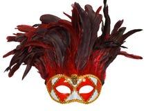karnevalet befjädrar den venetian maskeringen Arkivfoton