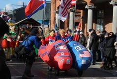 Karnevalet förlöjligar Aalst Royaltyfri Bild