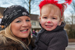 karnevalet firar dottermodern Royaltyfri Fotografi