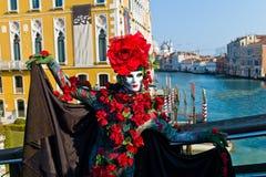 karnevalet italy maskerar venice Arkivfoto
