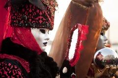 Karnevalet maskerar i Venedig Royaltyfri Fotografi