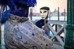 Karnevalet maskerar i Venedig, Italien Royaltyfri Foto