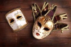karnevalet maskerar två Arkivfoton