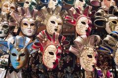 Karnevalet maskerar, Venedig, Italien Royaltyfri Fotografi