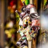 karnevalet maskerar venetian Arkivfoto