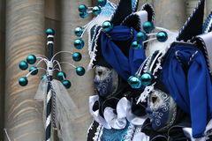 karnevalet maskerar venice Arkivfoton