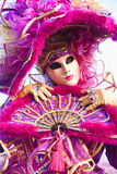 karnevalet maskerar venice Arkivbilder