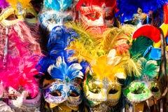 karnevalet maskerar venice Royaltyfri Fotografi