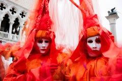 karnevalet maskerar venice Royaltyfria Bilder