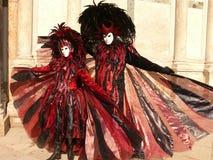 karnevalet maskerar venice Royaltyfri Bild