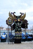 karnevalet maskerar venice Arkivfoto