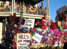 karnevalet New Orleans ståtar Royaltyfri Bild