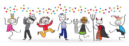 Karnevalet ståtar royaltyfri illustrationer