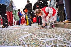 karnevalet ståtar gatan Royaltyfri Fotografi