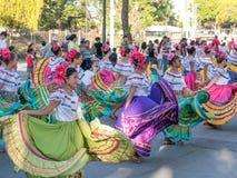 Karnevalet ståtar i Granada Arkivbilder