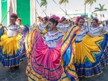 Karnevalet ståtar i Granada Arkivbild