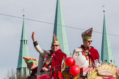 Karnevalet ståtar Nuremberg, Tyskland Royaltyfria Bilder
