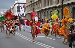 karnevalet ståtar warsaw Royaltyfria Bilder
