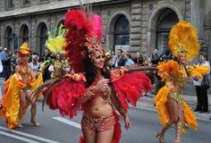 karnevalet ståtar warsaw Royaltyfri Fotografi