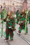 Karnevalet ståtar i Mannheim, Tyskland Arkivbilder