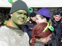 Karnevalet Venezia, kostymerar och maskerar 11 Arkivfoton