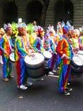 karnevalfestivalflod thames Arkivbilder