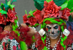 karnevalfestivalnatt thames Arkivfoto