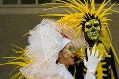 karnevalfestivalnatt thames Arkivbild