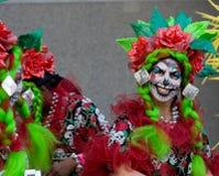 karnevalfestivalnatt thames Royaltyfri Fotografi
