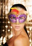 Karnevalflicka Royaltyfria Bilder