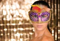 Karnevalflicka Royaltyfria Foton