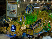 karnevalfloat rio Royaltyfria Bilder