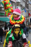 Karnevalgataaktörer i Maastricht Arkivbilder