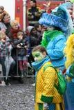 Karnevalgataaktörer i Maastricht Royaltyfria Bilder