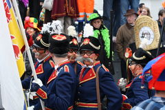 Karnevalgataaktörer i Maastricht Royaltyfri Fotografi