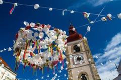 Karnevalgatagarneringar Fotografering för Bildbyråer