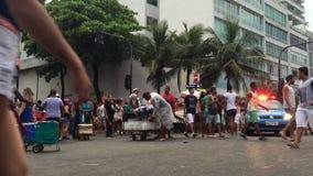 Karnevalgataparti Ipanema Rio Brazil lager videofilmer