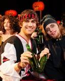 karnevalhalloween deltagare Royaltyfria Foton