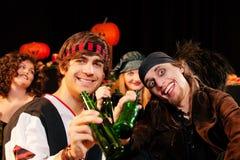karnevalhalloween deltagare Royaltyfri Fotografi