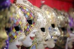 karnevalitaly maskering traditionella venetian venice Arkivbild