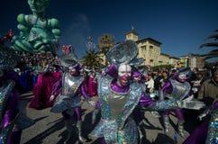 karnevalitaly viareggio 2011 royaltyfria bilder